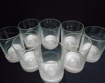 Set Of 8 David Douglas Glasses with Coasters