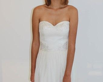 Clementine Silk Wedding Bodice
