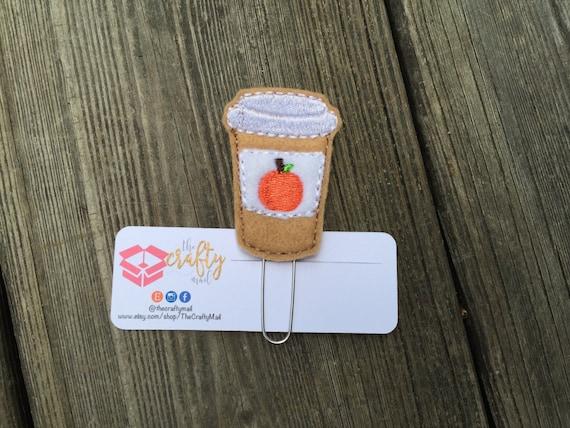 Pumpkin Spice Latte Planner Clip/Paper Clip/Feltie Clip.