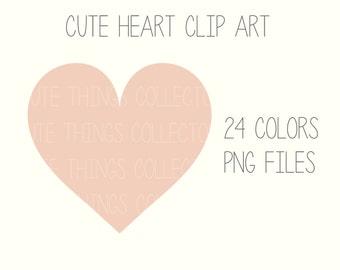 Cute Heart Health Clipart Clip Art Digital Scrapbook Planner Sticker Instant Download Printable Invitation Card Birthday PNG