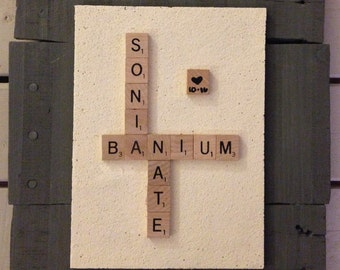Custom Scrabble Plaque