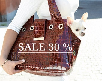 349,00 euro now SALE 30% new price euro 244,00 Emily leather tote bag and carrier