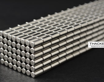 100 MAGNETS 3mm X 6mm cylinder/disk STRONGEST N45 rare Earth Neodymium (37)
