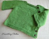 Sprout Green Soft Cotton Infant Sweater