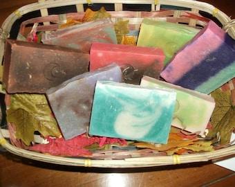 Mystery Lot Natural Soap Bars- 5 bars Total
