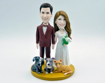 Custom wedding cake topper, personalized cake topper, Bride and groom cake topper, Mr and Mrs cake topper,  vintage cake toppers
