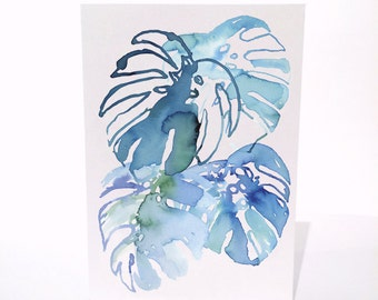 Monstera - A6 Greeting Card