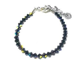 Bracelet with black Swarovski bicones