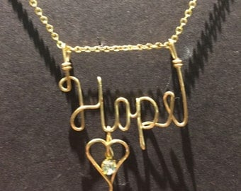 Gold Wire Name Necklace