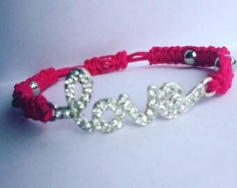 Macramé bracelet-handwoven bracelet-Love bracelet