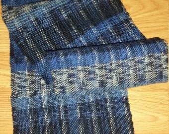 Hand woven scarf, hand made, one of a kind, wearable art, winter wear