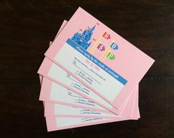 PRINTABLE Custom Disney Inspired RSVP Card!