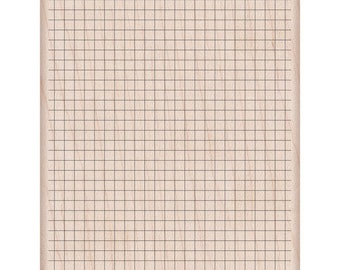 SALE! Wood Grid - Mounted Rubber Stamp   (K6127)