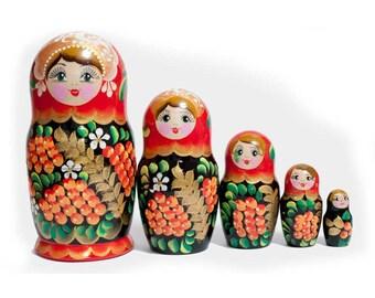 Nesting dolls Ashberries matryoshka - kod1042