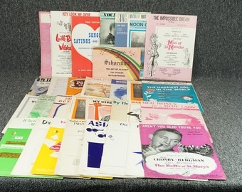 Vintage Assorted Lot Of Music Sheets & Books