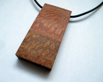 Lacewood Necklace, Lacewood Pendant, Wooden Necklace