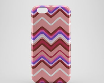 Wavy Lines Chevron Phone case,  iPhone X Case, iPhone 8 case,  iPhone 6s,  iPhone 7 Plus, IPhone SE, Galaxy S8 case, Phone cover, SS140b