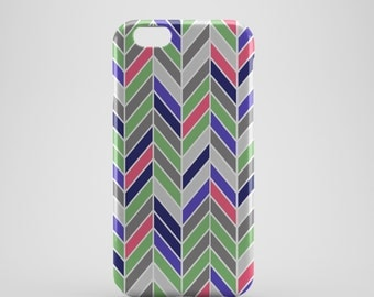 Multi-coloured Chevron Phone case,  iPhone X Case, iPhone 8 case,  iPhone 6s,  iPhone 7 Plus, IPhone SE, Galaxy S8 case, Phone cover, SS144c