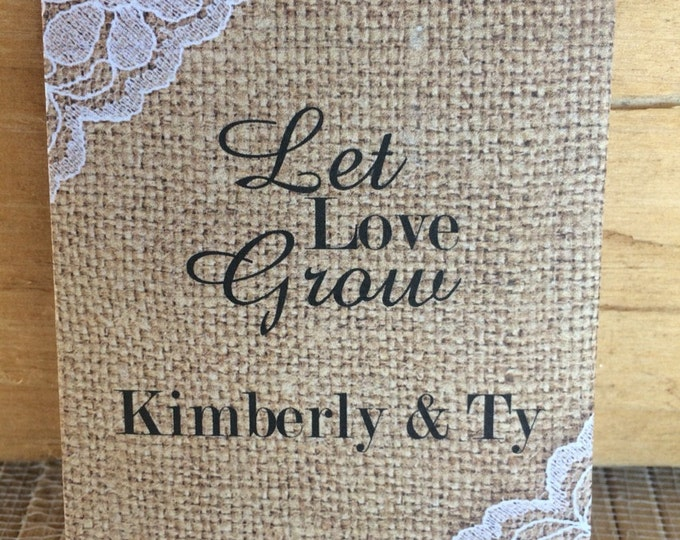 Special Listing: 75 Wedding Seed Packets AS SHOWN