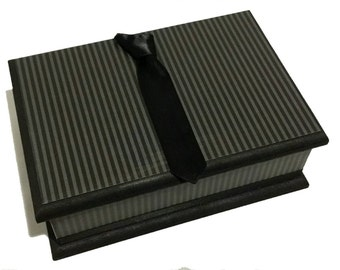 Windsor Knot Tie Keepsake Box - Striped