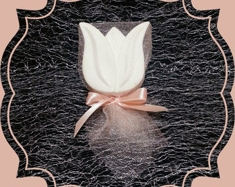 20 pcs Scented stone Tulip Magnet , Wedding favors , Party favor , Magnet , Bachelorette Party Favors , Thank you gifts