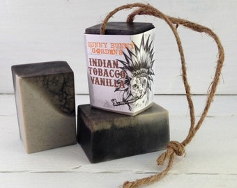 Tobacco Soap-On-A-Rope, Manly Soap, Soap Men Love, Indian Tobacco Soap, Gifts For Dad, Gifts For Hubby, Funny Gifts, Cats Dressed As Indians