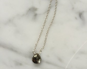 Sterling Silver and Pyrite Layering Necklace