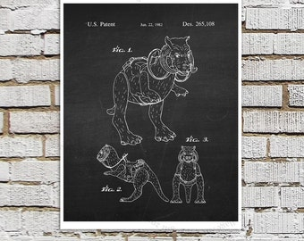 Star Wars print #6 Tauntaun Patent Poster, Star Wars Decor, Star Wars Boys Room Decor,  Star Wars Gift for Kids, Sci-Fi decor