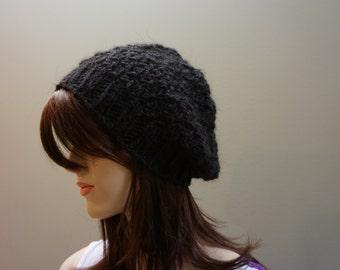 Black beanie hat.