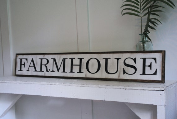 "FARMHOUSE 7""X48"" sign 