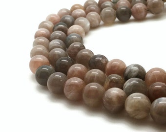 10mm Natural Moonstone Beads Round 10mm Moonstone 10mm Moon Stone Beads Moonstone Mala Moonstone Natural Moon Stone 10mm Moon Stone Mala