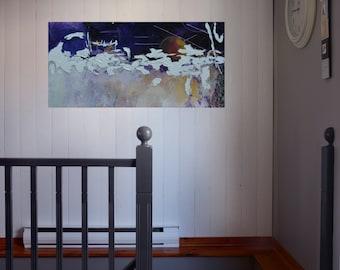 Milky Way,  modern abstract acrylic painting on plexiglass