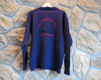 1987 America's Cup Wool Sweater - SIZE XL