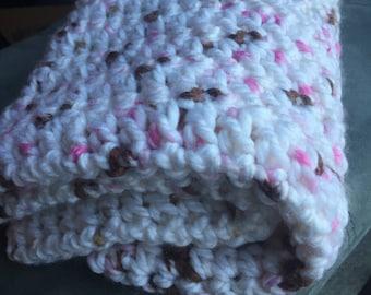 Pink and Mocha Multi Baby Blanket