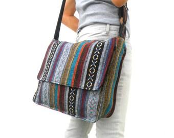 Messenger Bag Crossbody Bag Bohemian Bag  Multicolor boho Bag Handmade Everyday Bag  Purse Hippie Hobo Bag Gift Satchel Shoulder Bag Thai