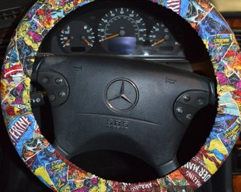 Marvel Comics Steering Wheel Cover-Nonslip Steering Wheel Cover-Xmen Steering Wheel Cover-Marvel Car Trash Bag-Wolverine Wheel Cover