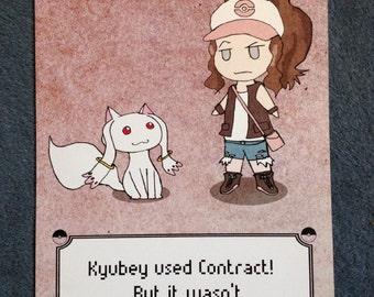 Pokemon Kyubey Madoka Magica Contract Poster Parody
