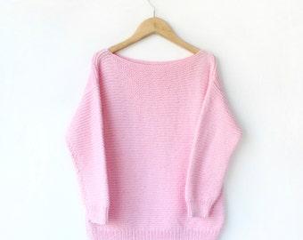Knitted Children's Sweater PDF Knitting Pattern - Boxy, Drop Sleeve, Garter Stitch, Kid's, Cotton, Jumper Knit Design, Beginners