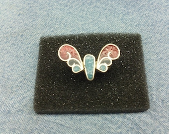 Vintage Sterling Silver Butterfly Ring (1960's)