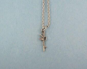 AR15 Gun Necklace - AR15 Charm - AR15 Gun Jewelry - AR15 Rifle - AR15 Jewelry - AR15 Charm Necklace - AR15 Gift - AR15 Womans Necklace