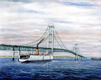 Mackinac Bridge, The Last Ferry