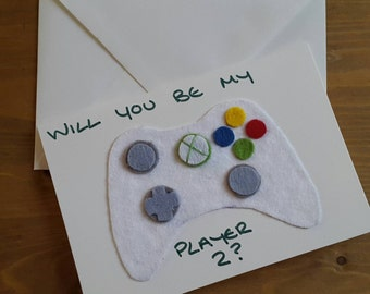 Xbox Player 2 Valentines Day Card