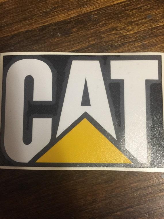 Cat Sticker Vinyl Decal Hard Hat Caterpillar