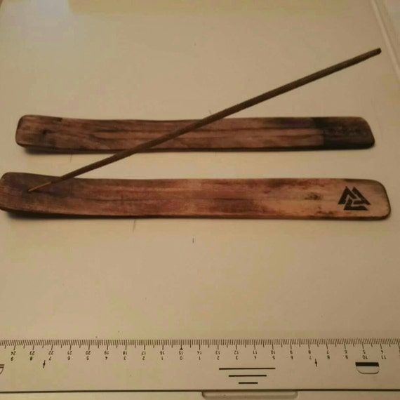 VALKNUT and Tree of life protection symbol norse viking wooden incense fragrance holder mythology