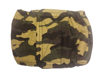 Male Dog Diaper Belly Band - Camo Washable Belly Band Wrap