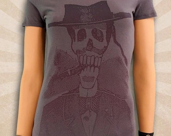 Day of The Dead Skull - Day of The Dead Skeletons - Day of The Dead Clothing - Deep V-Neck T Shirts - Scoop Neck T Shirt