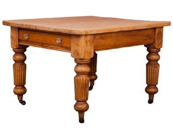 SALE NOW 365.00GBP Antique Pine Kitchen Table c1840