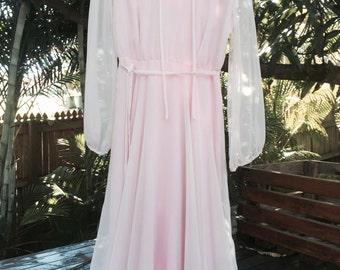 Vintage 70's sheer bohemian dress