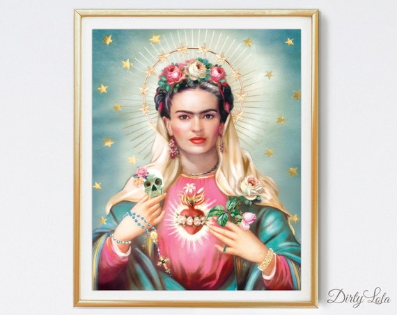 saint frida religious day of the dead art print 25 best ideas about mexican paintings on pinterest
