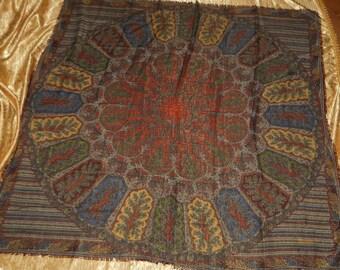 Genuine Vintage Mantero Scarf ! Wool Big foulard